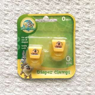Looney Tunes Babies' Yellow Diaper Clamps / Clips