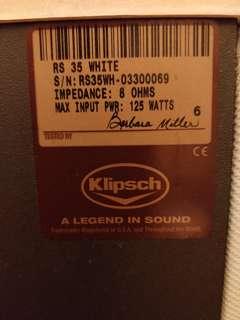 Klipsch RS-35 speakers (white)