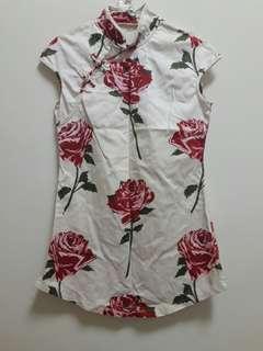 🚚 高衩旗袍長版上衣