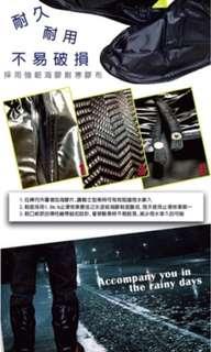 台灣製造 男女款後置反光條半筒靴型M-3XL雨鞋套(雨鞋/馬靴)