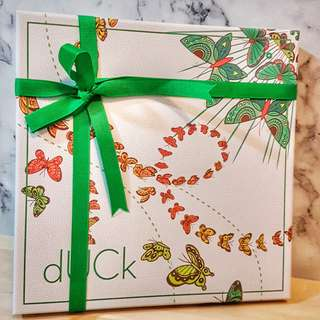Duck Butterfly Shawl in Green
