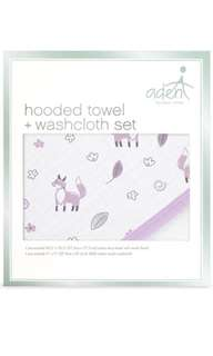 Aden Anais Meadowfox Hoodedtowel wash cloth set