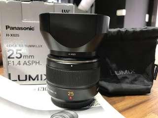 🚚 曙光數位 Panasonic 25mm F1.4 大光圈 / 人像鏡