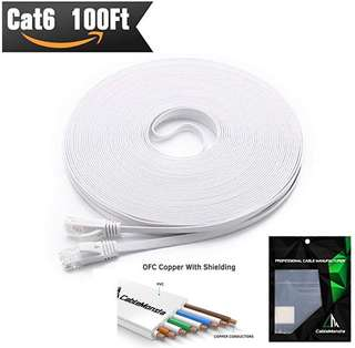 CAT6 45.75meter flat ethernet cable