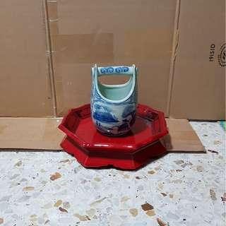 瓷器 打井水的器具 摆设品
