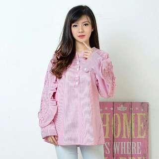 AR - Samantha Blouse pink 65.000 : Katun Salur LD : 100 cm PJ : 72 cm