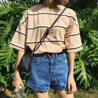 Beige Striped Shirt