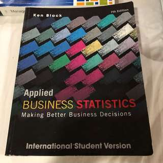 Applied Business Statistics by Ken Black 7th Edition