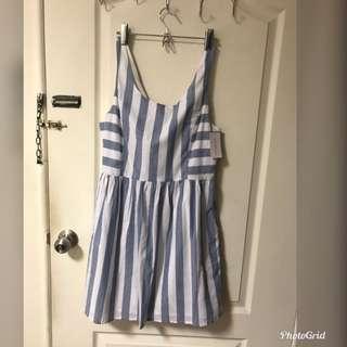 6ixty8ight條紋洋裝