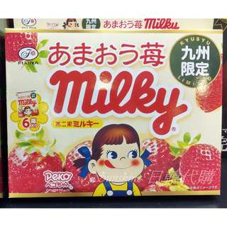 限量一盒 日本 九州限定 不二家 Milky 草莓牛奶糖 大盒裝