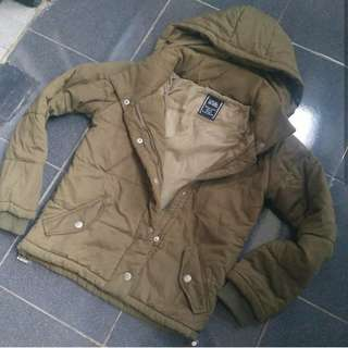 CECIL MCBEE Green Paded Army Jacket