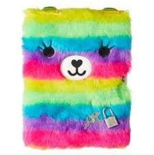 🌈Smiggle Furry Rainbow A5 Notebook🌈