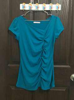 MSE Blue Green Blouse