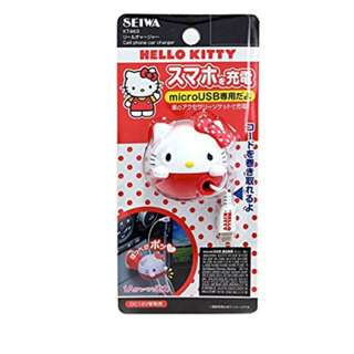 (FROM JAPAN) Seiwa Hello Kitty Car Charger (Micro USB)