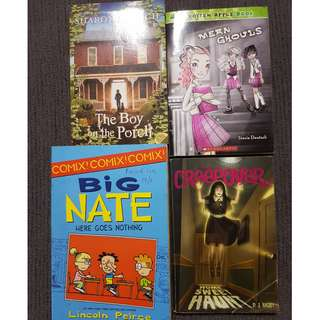 Children Story books: Big Nate, The Boy on the Porch, Creep Over, Mean Ghouls