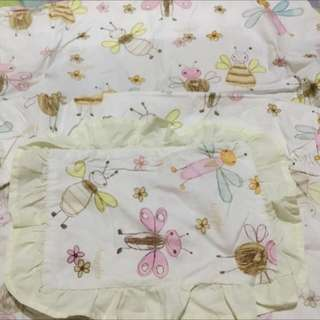 Baby fitted bed sheet & pillow case