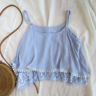 Lace top with adjustable strap