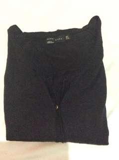 Zara navy blue cardigan
