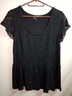 Maurices Black Lace top