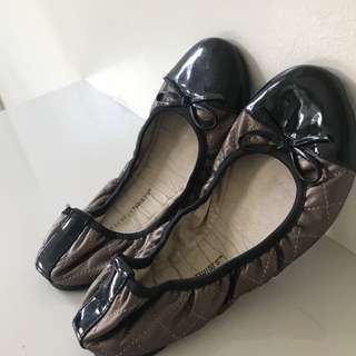 Butterfly Twists Bronze Flats