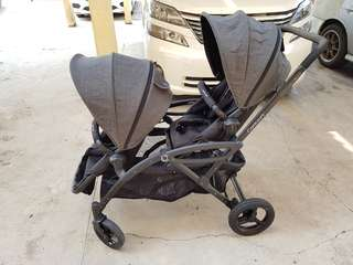 Contours Option Elite Tandem Twin Stroller