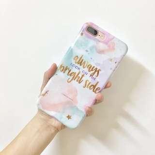 iPhone Case 粉色 夏天 英文字母 玫瑰金 全包軟殼