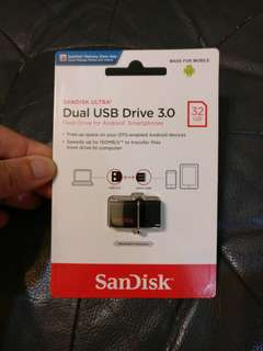 Sandisk Ultra 32GB USB 3.0 OTG Flash Drive Micro USB Android