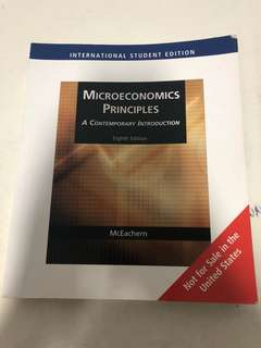 🚚 Microeconomics Principles Textbook 8th Edition
