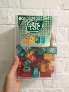 Tic tac tictac糖迷你mini版 內有60盒 small but cool 4種口味