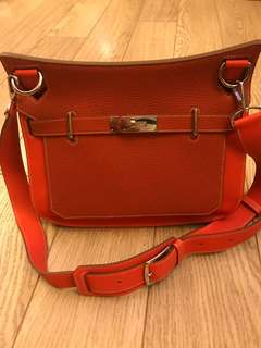 Genuine Hermes Jypsiere two-tone 31cm handbag