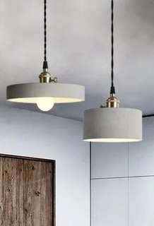 Cement hanging lamps