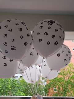 Paw printed design helium balloon