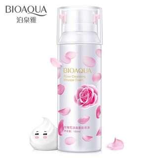🦋BIOAQUA Natural Rose Oil Essence Facial Cleanser Foam🦋