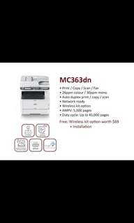 BRAND NEW )OKI Multifunction Color Laser Printer  MC363DN  with 3 years onsite warranty . Promotion