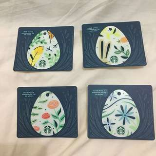 Starbucks Canada Easter Eggs 2018 Cards 1 set