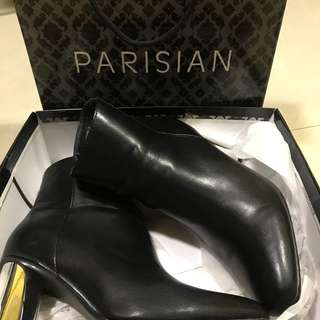 Parisian Black Leather Boots