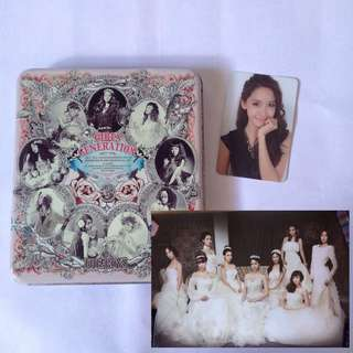 SNSD official album The Boys with Yoona photocard and group poster