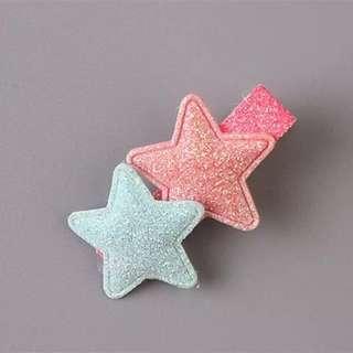 Double Star Glitter hair clip