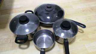 Giving away free pots and pan