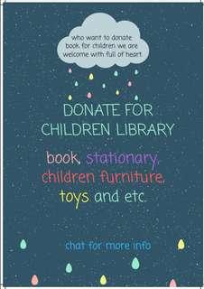 Donation for children library. (Wakaf perpustakaan kanak-kanak)