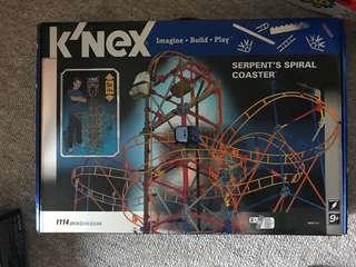 K'nex serpent's spiral roller coaster