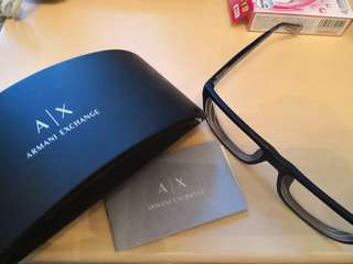 AX armani 藍色眼鏡框
