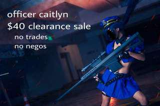 officer caitlyn cosplay set