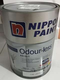 BRAND NEW unopened Nippon odourless all-in-one 5L white paint