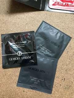 GIORGIO ARMANI BEAUTY SAMPLES SET (SOLD AS BUNDLE/SET)
