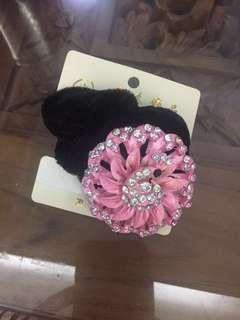 (BN) Promotion for this week-Pink Floral Peacock Hair Tie