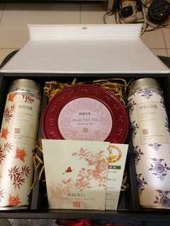 Tea Set阿里山烏龍50g、凍頂烏龍50g、東方美人40g 曉陽茶行禮盒套裝