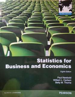Statistics for Business and Economics Eighth Edition (Pearson)