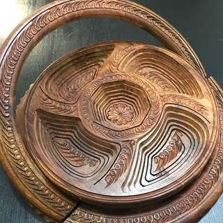 🏺木雕✖️提籃🏺木雕一秒變提籃🧝🏻♀️超神木作工藝品