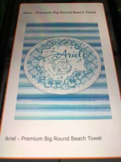 Ariel Disney Beach Towel